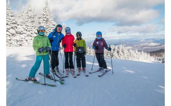 Ski with kids on Gore Mountain