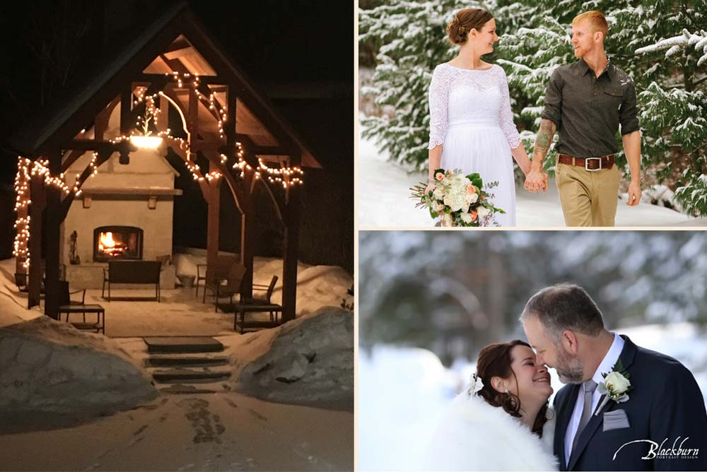 Winter Wedding in the Adirondacks at The Alpine Lodge
